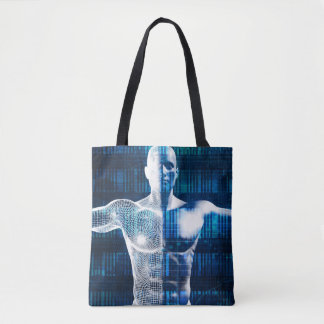 Technology Network Over the Internet and Wireless Tote Bag
