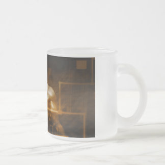 Technology Network with Futuristic Graph Chart Frosted Glass Coffee Mug