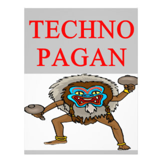 technology pagan joke flyer