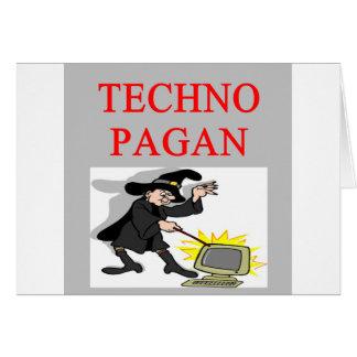 technology pagan joke greeting card