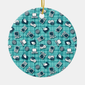 Technology pattern ceramic ornament