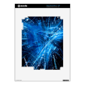 Technology pattern with human face iPad 2 skins