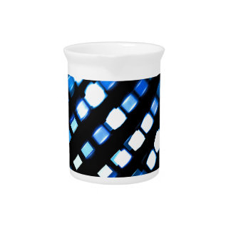 Technology pattern with light effects pitcher