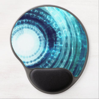 Technology Portal with Digital Circle Access Gel Mouse Pad