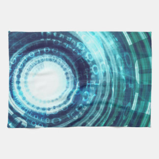 Technology Portal with Digital Circle Access Hand Towel