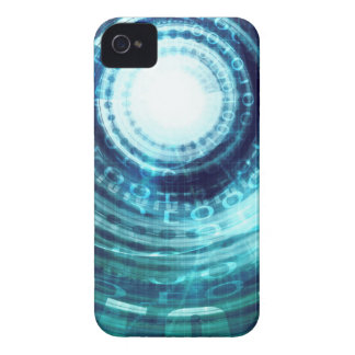 Technology Portal with Digital Circle Access iPhone 4 Case-Mate Case