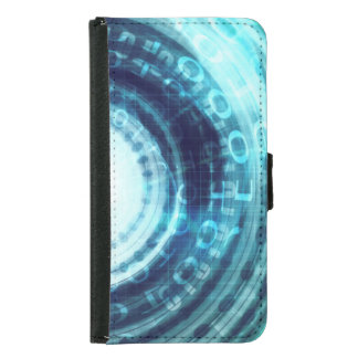 Technology Portal with Digital Circle Access Wallet Phone Case For Samsung Galaxy S5