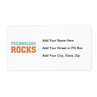 Technology Rocks Label