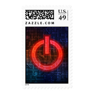 technology theme stamp