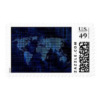 technology theme stamp