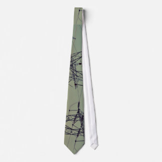 Technology Themed, Electrical Transmitter Tower Un Neck Tie