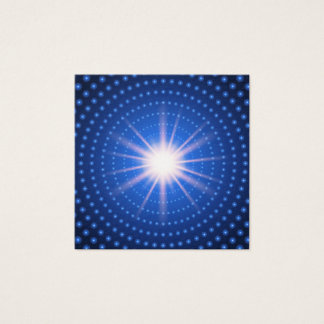 Technology tunnel with light at the end square business card