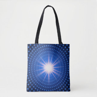 Technology tunnel with light at the end tote bag