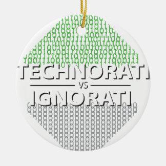 Technorati contra Ignorati Adorno Redondo De Cerámica