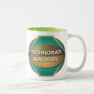 Technorati contra Ignorati Taza De Dos Tonos