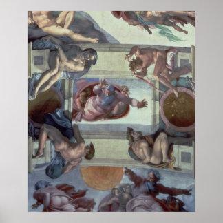 Techo 2 de la capilla de Sistine Póster