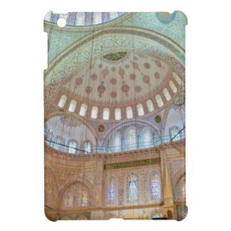 Techo abovedado interior colorido de la mezquita