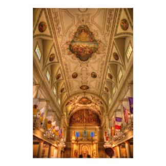 Techo de catedral de St. Louis Fotografías