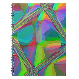 Techo de cristal reconstruido de Roberto S. Lee Spiral Notebook
