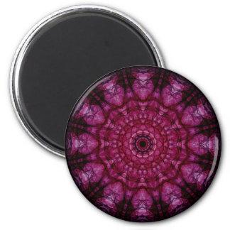 Techo de cristal rosado imán redondo 5 cm