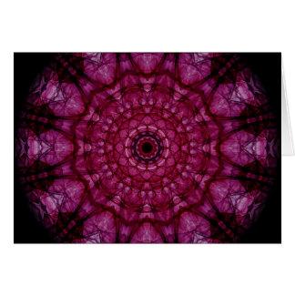 Techo de cristal rosado tarjeta de felicitación