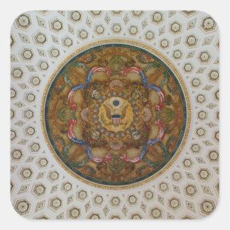 Techo de la Biblioteca del Congreso Pegatina Cuadrada