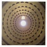 Techo de la bóveda en panteón en Roma, Italia Azulejo Cuadrado Grande