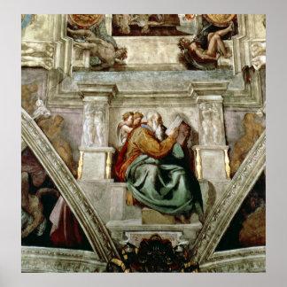 Techo de la capilla de Sistine, 1508-12 Póster