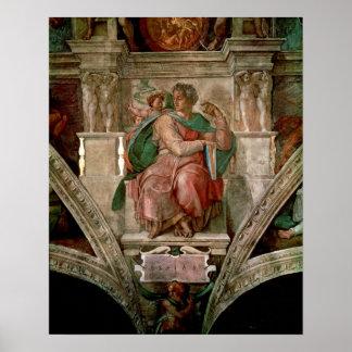 Techo de la capilla de Sistine: El profeta Isaías Póster