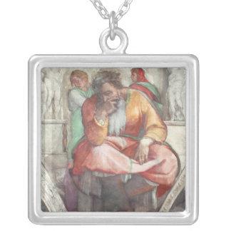 Techo de la capilla de Sistine: El profeta Jeremia Colgante Cuadrado