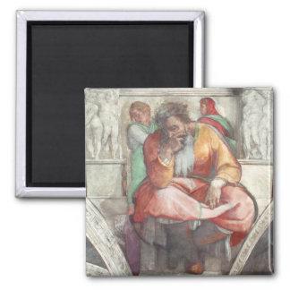 Techo de la capilla de Sistine: El profeta Jeremia Imanes De Nevera