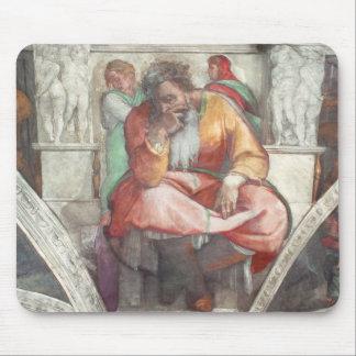 Techo de la capilla de Sistine: El profeta Jeremia Alfombrillas De Ratón