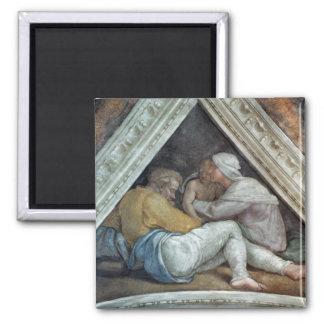 Techo de la capilla de Sistine: Los antepasados de Imán