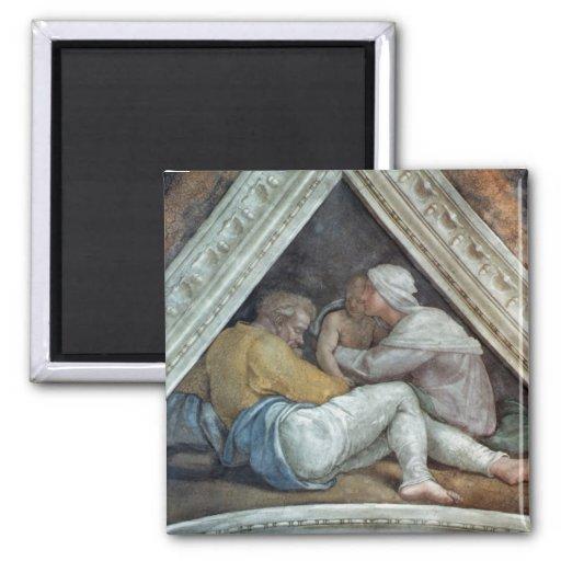 Techo de la capilla de Sistine: Los antepasados de Imán Cuadrado