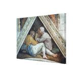 Techo de la capilla de Sistine: Los antepasados de Impresión En Lienzo Estirada