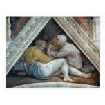 Techo de la capilla de Sistine: Los antepasados de Postal