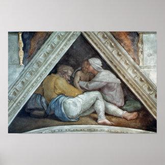 Techo de la capilla de Sistine: Los antepasados de Póster