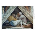 Techo de la capilla de Sistine: Los antepasados de Tarjeta De Felicitación