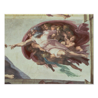 Techo de la capilla de Sistine Póster