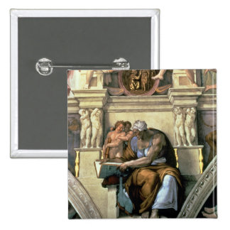 Techo de la capilla de Sistine: Sibila de Cumaean, Pin Cuadrada 5 Cm