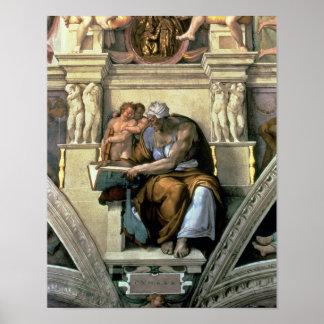 Techo de la capilla de Sistine: Sibila de Cumaean, Póster