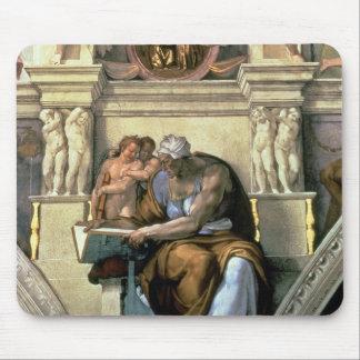 Techo de la capilla de Sistine Sibila de Cumaean Tapete De Ratones