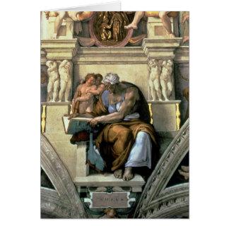 Techo de la capilla de Sistine: Sibila de Cumaean, Tarjeta De Felicitación