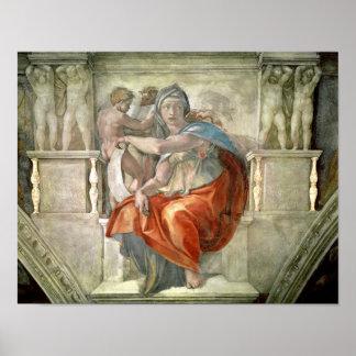 Techo de la capilla de Sistine: Sibila délfica Impresiones