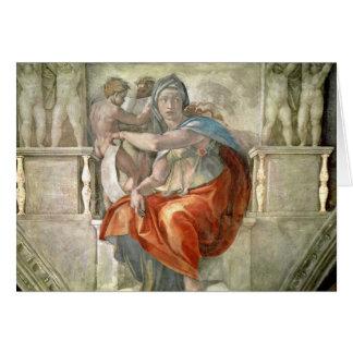 Techo de la capilla de Sistine: Sibila délfica Tarjeta De Felicitación