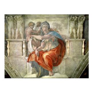 Techo de la capilla de Sistine: Sibila délfica Postales