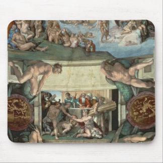 Techo de la capilla de Sistine Alfombrillas De Ratón