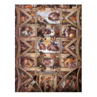 Techo de la capilla de Sistine Postales