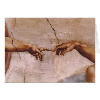 Techo de la capilla de Sistine Tarjeton