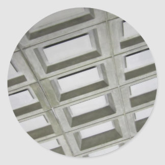 Techo de la teja del modelo pegatina redonda